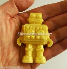 8 Celdas Marrón Chocolate Candy Molde Robot Bakeware del silicón Molde Hielo Jabón Resina