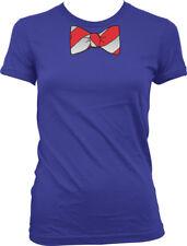 Fake Bow Tie Stripes Red White Necktie Costume Business Attire Juniors T-Shirt