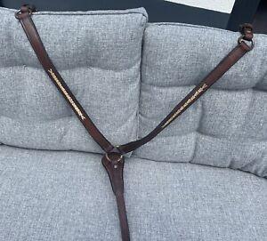 Westernvorderzeug Pferde Vorderzeug Western Leder Latigo Mit Rawhide Verzierung