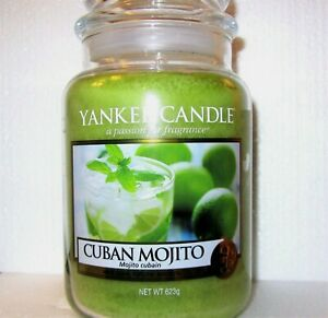 "Yankee Candle ""CUBAN MOJITO""  22 oz.~ EUROPEAN RELEASE ~ TAN LABEL ~ NEW"