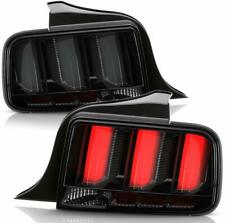 Ford 05-09 Mustang Smoked LED Tube Sequential Turn Signal Tail Brake Lights