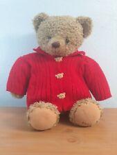 "Large 18"" Hallmark Plush Teddy Bear Mary In Red Sweater"