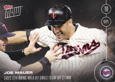 2016 Topps NOW 441 Joe Mauer Minnesota Twins Sept 10 ONLY 281 Printed RARE