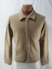 Brooks Brothers 346 Women's Size L Large Wool Shirt Jacket Camel Tan Front Zip