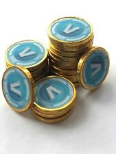 20 Fortnite inspired V Bucks Chocolate Coins loose Party Bags Fillers Kids Game