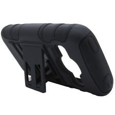 For ZTE Concord 2 II Stand Black Hard Soft Case + Belt Clip Holster Cover