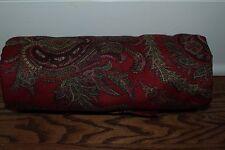 New Pottery Barn Red Caroline Paisley Christmas tablecloth 70x108