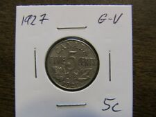 Canada 5 cents 1927 Fine condition