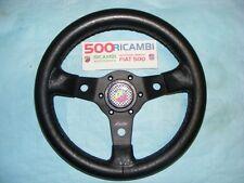 FIAT 500 F/L/R VOLANTE SPORTIVO A 3 RAZZE LUISI NERO + CLACSON ABARTH NIBBIO 32