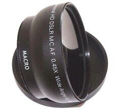 72mm Hi Def Wide Angle Lens Set For Camera Camcorder