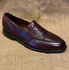 Men's Allen Edmonds Randolph Brown Leather Slip-on Loafers Shoes size 9D
