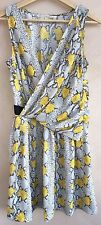 Rachel Roy Ladies Dress Light Grey & Yellow Size 4<NH3088