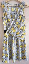 Rachel Roy Ladies Dress Light Grey & Yellow Size 4<NH3088