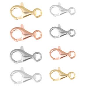 Sterling Silber Hummer Auslöser Verschluss mit Öffnen Springen Ring viel Größen