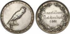 """KAISERREICH - Ag-Medaille 1908 """"Ausstellung in Reichenbach"""" 43mm  [D-70]"""