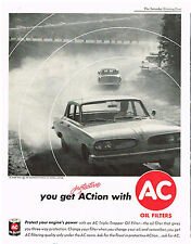Vintage 1961 Magazine Ad For AC Oil Filters And Employers Mutuals Of Wausau