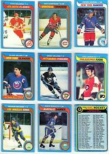 79/80 OPC SET #1 NINE CARDS SOME ARE MINT, FEW WORN GRETZKYS ROOKIE YEAR - 9 LOT