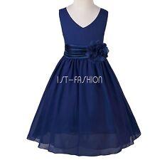 Mädchen Kommunions Hochzeit Kleid Kinder festlich Kleid Sommerkleid Festkleider