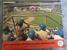 Vintage METS Program and Scorecard 1971 EXCELLENT CONDITION