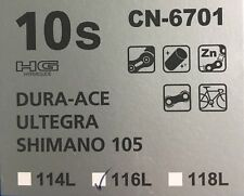 Shimano Bicycle Chain CN-6701 10 Speed Dura Ace, Ultra, 105  Hyperglide