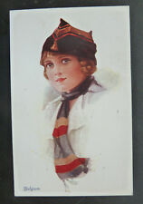 "Glamour Postcard, Vivian Mansell & Co- Lady ""Belgium"" Artist Signed"