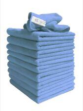 Exel Supercloth - Medium Duty Microfibre Cloths - Blue - Pack of 10 40x40cm