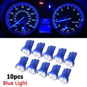 10x Blue T10 W5W 168 194 4-SMD LED Dash Instrument Cluster Gauge Light Bulb