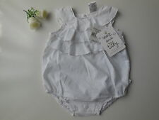 NEW Max and Tilly Baby Girl White Ruffle Romper Size 000 Fits 0-3m *Gift