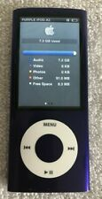 LQQK Apple iPod nano 5th Generation Purple (8 GB) A1320 NICE! Loaded with Songs!