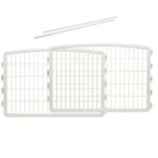 New listing Iris 2-Panel With Door Plastic Pet Dogs Puppies Playing Playpen, White Finish