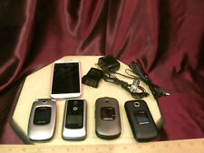 5 used cell phone-Samsung Verizon/Jitterbug/T-mobil e galaxy S4 /Motorola Mp3-F/S