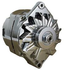 NEW CHROME BBC SBC CHEVY ALTERNATOR FITS 110A 1 WIRE HO SELF EXCITING ENERGIZING