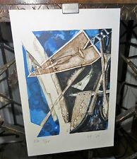 Estampe EA composition cubiste 1920's Henri de Waroquier