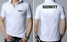 Iron On Heat Security Staff Transfers Font and Back Pair (Black Transfers)