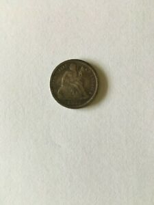 1875 CC Seated Liberty Dime Below Bow