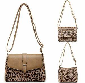 Ladies Leopard Print Clutch Animal Shoulder Evening Bag Crossbody Casual Handbag