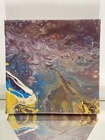 Street Abstract oil on canvas painting floating framed