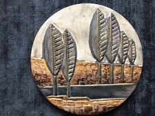 1960s Vintage Ceramic Wall Plaque - Vallauris French Studio Pottery