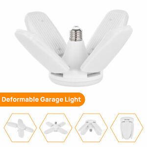 100W Led Garage Light Deformable Lights Lamp Ceiling Fixture Workshop Bulb 6000K