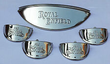 "Brand New Royal Enfield Chrome Head light LAMP Shades Visor 7"" beam 5 pcs"