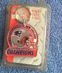 New England Patriots Super Bowl XXXIX Champions Key Chain