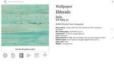 Elitis Textured Wallpaper 1 Sealed Roll wholesale $269 TurquoiseEldorado
