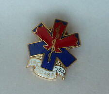 1989 CCASA  Caduceus Symbol Lapel Pin Calgary Communities Against Sexual Abuse