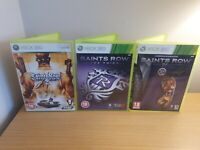 XBOX360 SAINTS ROW GAME BUNDLE - 2, 3 & 4 COMPLETE WITH MANUALS - FREE P&P
