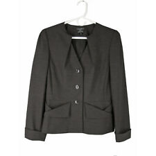TAHARI for BLOOMINGDALES Jacket 8 Shaped Sculptural Peplum Blazer NEW Ret $148
