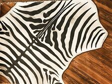 Zebra Rug Floor Mat - One of a kind-Hand painted on Heavy canvas