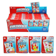 Kiddies Classic Card Games 4 to Choose From Plastic Coated 9cm x 6.5cm Kids Fun