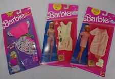 Vintage Barbie Fashions 90s Outfits Nrfb Lot of 3