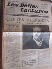 Les Belles Lectures N°77 du 3 au 9 Septembre 1947/ Banville: contes féériques