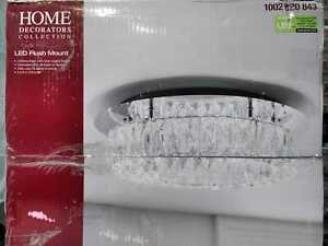 Crystal 100-Watt Polished Chrome Integrated LED Semi Flush Mount by Home Dec. C.
